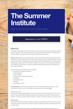 The Summer Institute