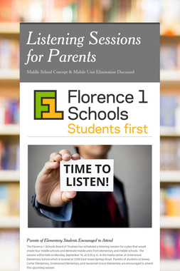 Listening Sessions for Parents