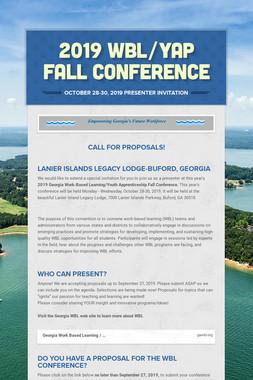 2019 WBL/YAP Fall Conference