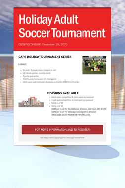 Holiday Adult Soccer Tournament