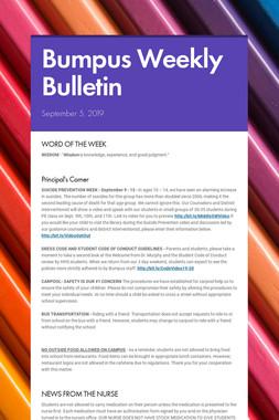 Bumpus Weekly Bulletin