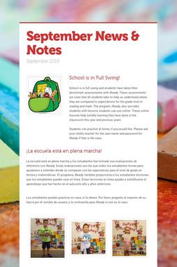 September News & Notes