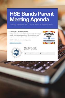 HSE Bands Parent Meeting Agenda