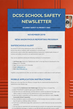 DCSC School Safety Newsletter