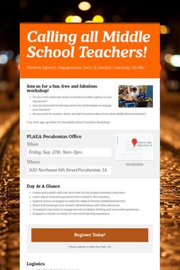 Calling all Middle School Teachers!