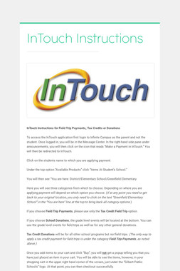 InTouch Instructions