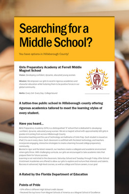 Searching for a Middle School?