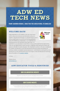 ADW Ed Tech News