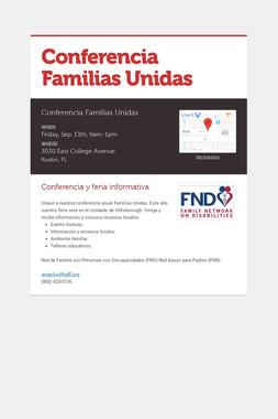 Conferencia Familias Unidas