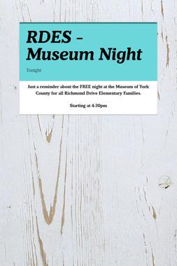 RDES - Museum Night