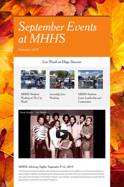 September Events at MHHS