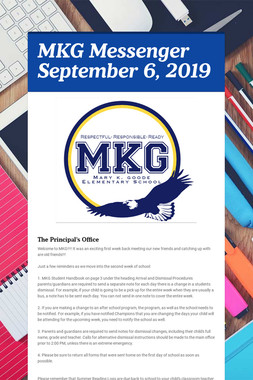 MKG Messenger September 6, 2019