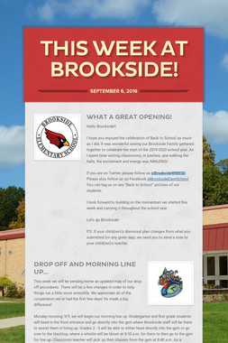 This Week at Brookside!