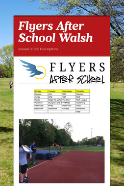 Flyers After School Walsh