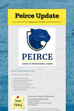 Peirce Update