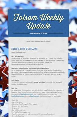 Folsom Weekly Update