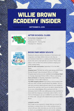 Willie Brown Academy Insider