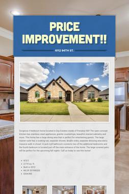 Price Improvement!!