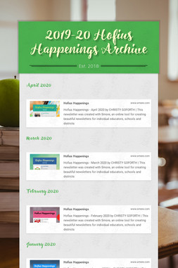 2019-20 Hofius Happenings Archive