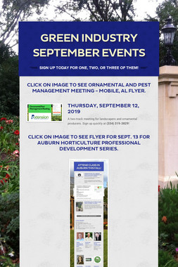 Green Industry September Events