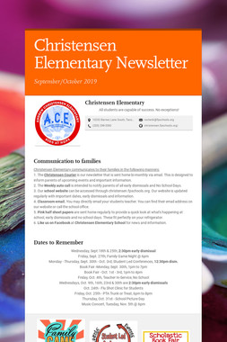 Christensen Elementary Newsletter