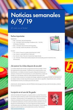 Noticias semanales 6/9/19