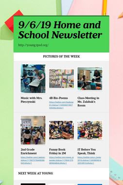 9/6/19 Home and School Newsletter