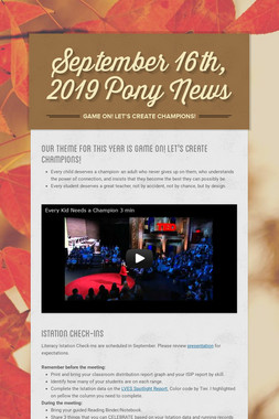 September  16th, 2019 Pony News