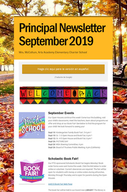 Principal Newsletter September 2019
