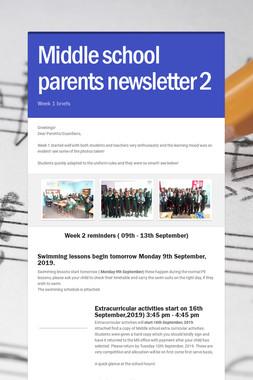 Middle school parents newsletter  2