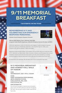9/11 Memorial Breakfast