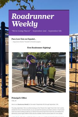 Roadrunner Weekly