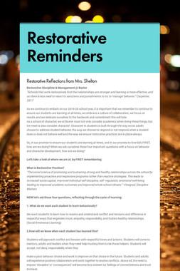 Restorative Reminders