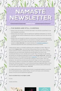 Namasté Newsletter