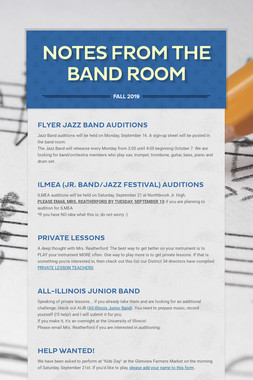 Notes from the Band Room