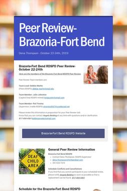 Peer Review- Brazoria-Fort Bend