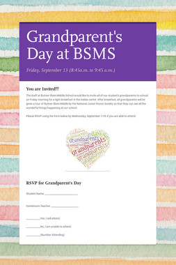 Grandparent's Day at BSMS