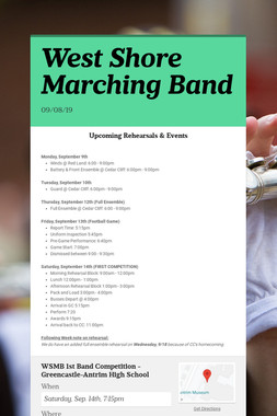 West Shore Marching Band