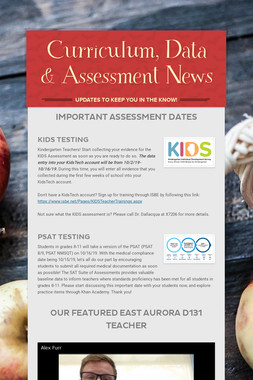Curriculum, Data & Assessment News