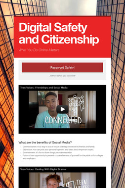 Digital Safety and Citizenship