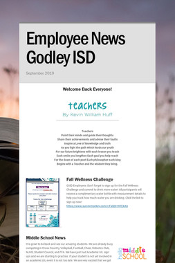 Employee News Godley ISD