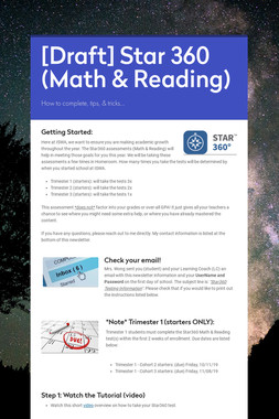 [Draft] Star 360 (Math & Reading)