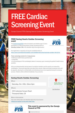 FREE Cardiac Screening Event