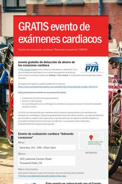 GRATIS evento de exámenes cardiacos