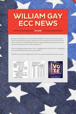 William Gay ECC News