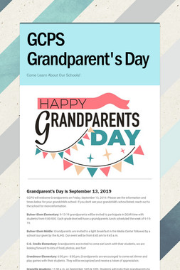 GCPS Grandparent's Day