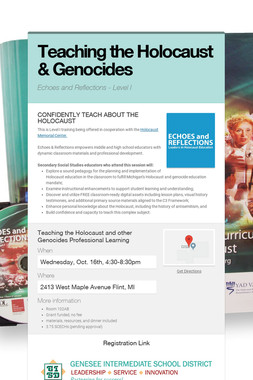 Teaching the Holocaust & Genocides
