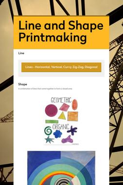 Line and Shape Printmaking