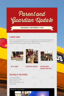 Parent and Guardian Update