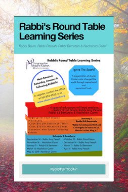 Rabbi's Round Table Learning Series